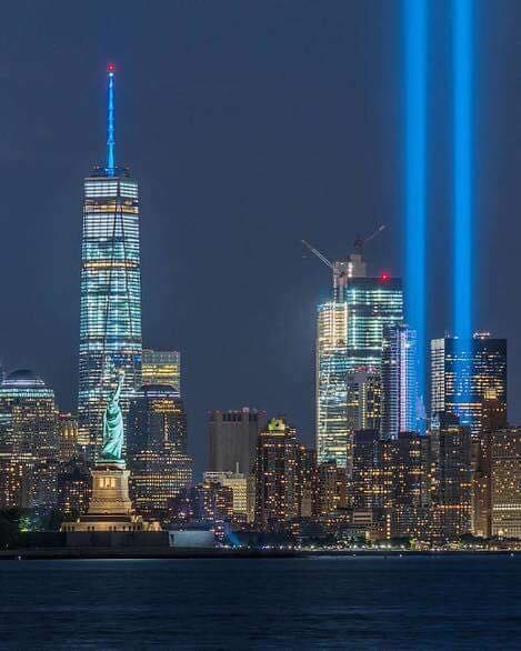 911 memorial light beams