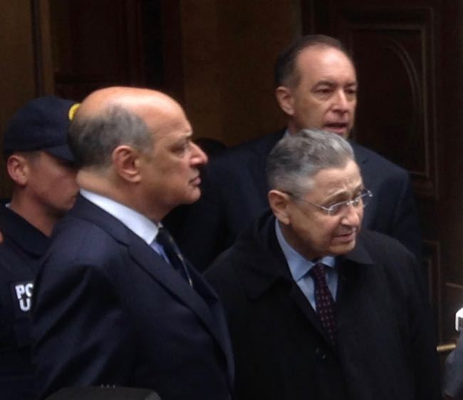 Sheldon Silver leaves court May 3, 2016 after sentencing hearing.