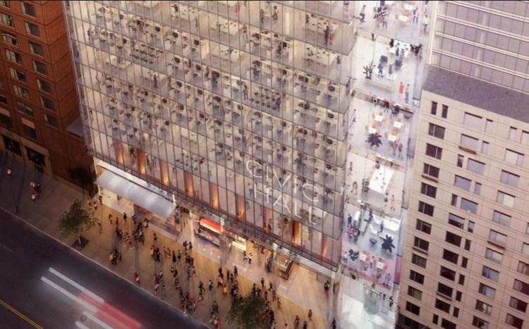 Rendering of new Union Square Tech Hub. Image via NYC EDC.