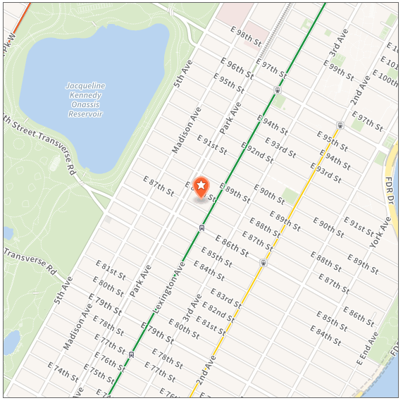 115 E 87th St 2BR map