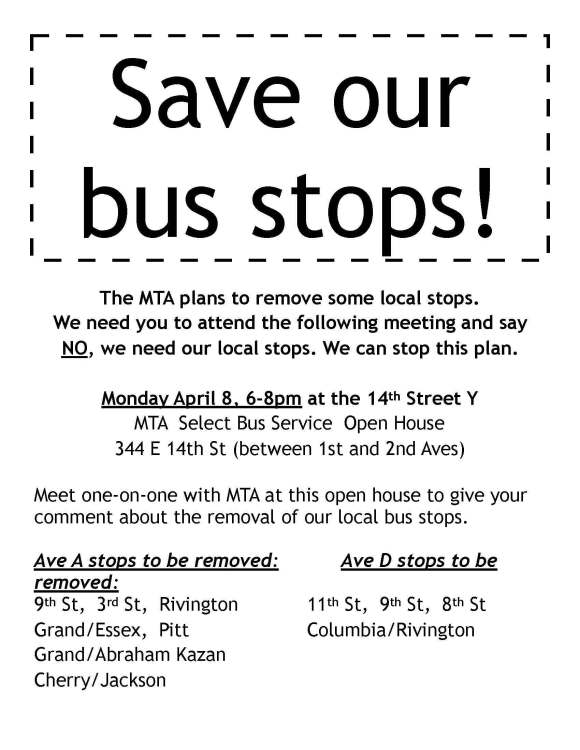 Save our bus stop 2