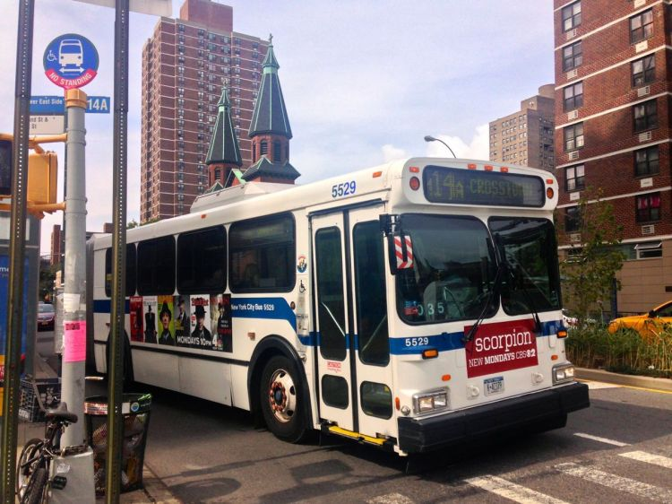 14a bus on Grand Street. File photo.