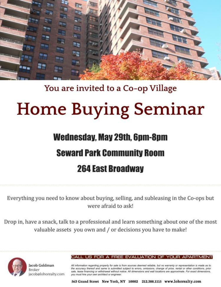 Co-op Village Home Buying Seminar