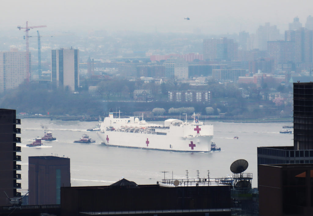 USNS Comfort Arrives in New York City